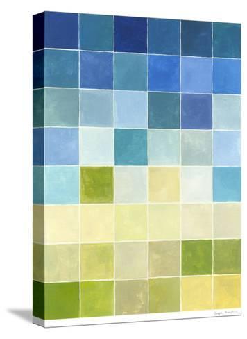Pixilated Landscape II-Megan Meagher-Stretched Canvas Print