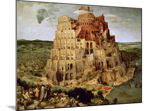 The Tower of Babel-Pieter Bruegel the Elder-Mounted Giclee Print