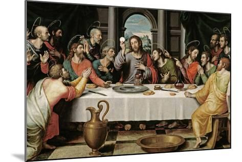 The Last Supper, Ca. 1562-Juan De juanes-Mounted Giclee Print
