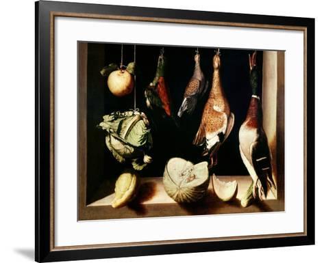 Still-Life with Game Fowl, 1600-1603-Juan Sanchez Cotan-Framed Art Print