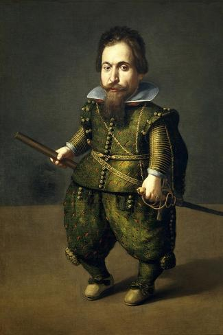 Portrait of a Dwarf, Ca. 1626-Juan Van Der Hamen-Stretched Canvas Print