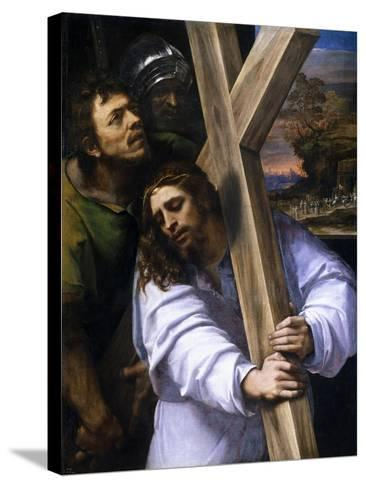 Jesus Carrying the Cross, Ca. 1516-Sebastiano del Piombo-Stretched Canvas Print