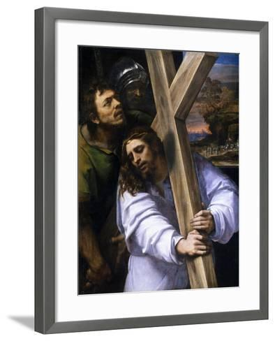Jesus Carrying the Cross, Ca. 1516-Sebastiano del Piombo-Framed Art Print