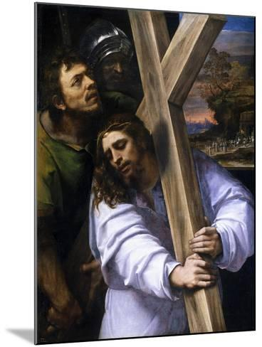 Jesus Carrying the Cross, Ca. 1516-Sebastiano del Piombo-Mounted Giclee Print