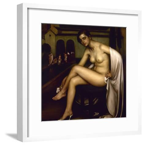 Nude-Julio Romero de Torres-Framed Art Print