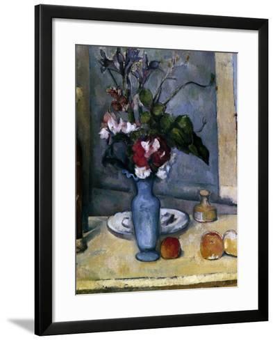 The Blue Vase, 1885-1887-Paul C?zanne-Framed Art Print