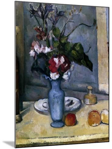 The Blue Vase, 1885-1887-Paul C?zanne-Mounted Giclee Print