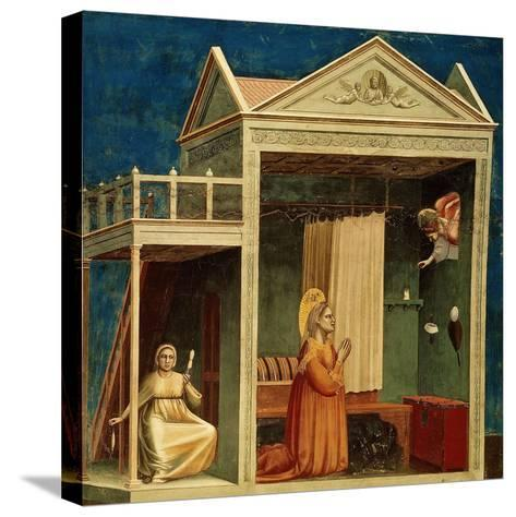 The Annunciation to Saint Anne, 1303-1310-Giotto di Bondone-Stretched Canvas Print