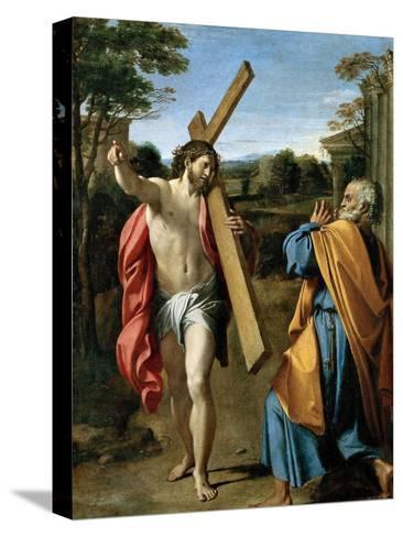 Domine, Quo Vadis?, C. 1602-Annibale Carracci-Stretched Canvas Print