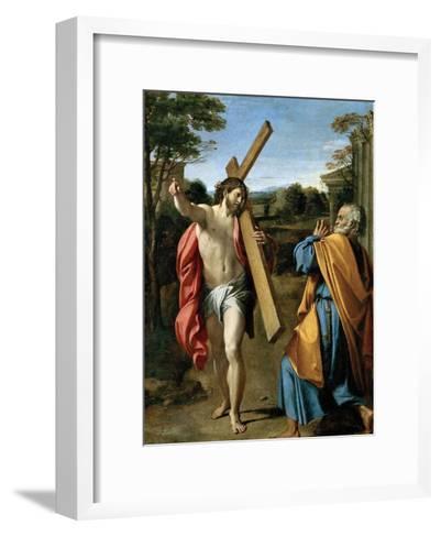 Domine, Quo Vadis?, C. 1602-Annibale Carracci-Framed Art Print