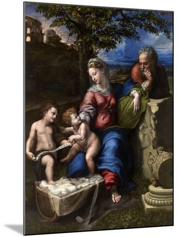 The Holy Family with an Oak Tree, 1518-1520-Raphael-Mounted Giclee Print