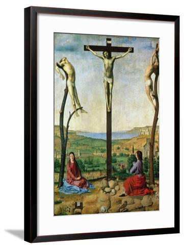 The Antwerp Crucifixion, 1454-1455-Antonello da Messina-Framed Art Print
