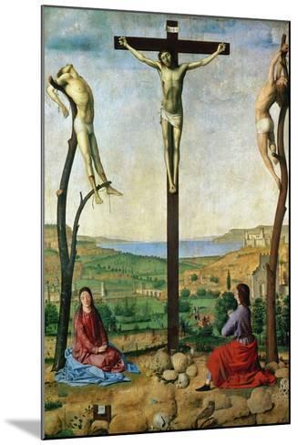 The Antwerp Crucifixion, 1454-1455-Antonello da Messina-Mounted Giclee Print