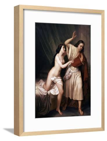 Joseph and Potiphars Wife, 1854-Antonio Maria Esquivel-Framed Art Print