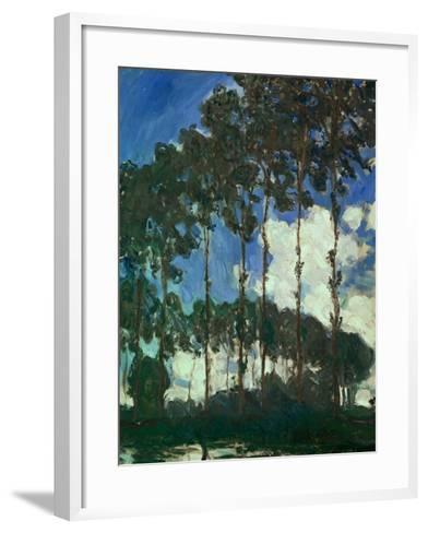 Poplars on the Epte, 1891-Claude Monet-Framed Art Print