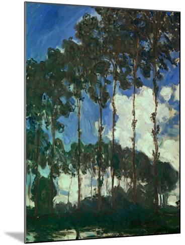 Poplars on the Epte, 1891-Claude Monet-Mounted Giclee Print