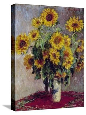 Still Life with Sunflowers, 1880-Claude Monet-Stretched Canvas Print
