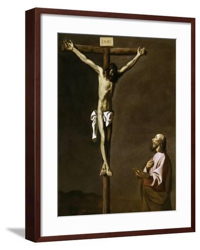 Saint Luke as a Painter, before Christ on the Cross, 1650-Francisco de Zurbar?n-Framed Art Print