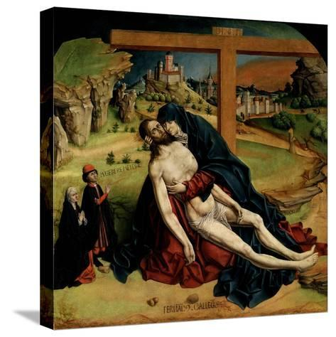 Pietà, 1465-1470-Fernando Gallego-Stretched Canvas Print