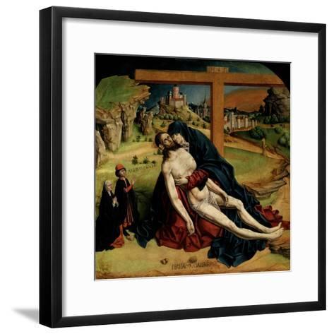 Pietà, 1465-1470-Fernando Gallego-Framed Art Print