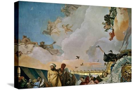 Throne Room: the Glory of Spain, Allegory of Africa, 1762-1766-Giovanni Battista Tiepolo-Stretched Canvas Print