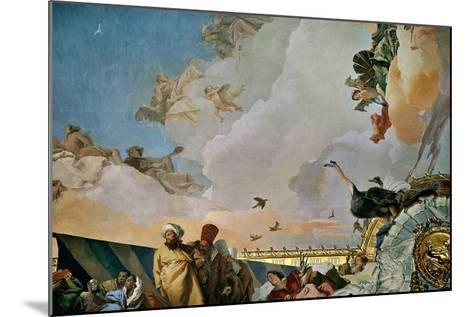 Throne Room: the Glory of Spain, Allegory of Africa, 1762-1766-Giovanni Battista Tiepolo-Mounted Giclee Print