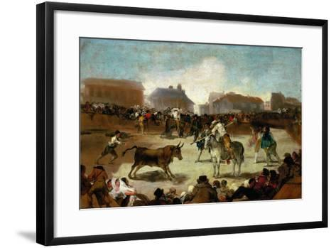 Bullfight in a Village, 1815-1819-Suzanne Valadon-Framed Art Print