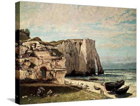 The Cliffs at Etretat after the Storm, 1870-Gustave Courbet-Stretched Canvas Print