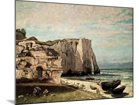 The Cliffs at Etretat after the Storm, 1870-Gustave Courbet-Mounted Giclee Print