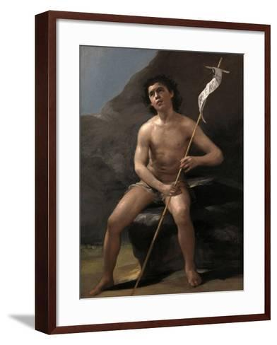 Saint John the Baptist as a Child in the Desert, Ca. 1810-Suzanne Valadon-Framed Art Print
