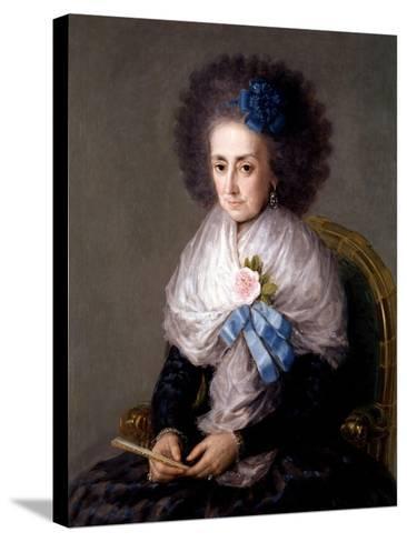 María Antonia Gonzaga, Marchioness Widow of Villafranca, Ca. 1795-Suzanne Valadon-Stretched Canvas Print