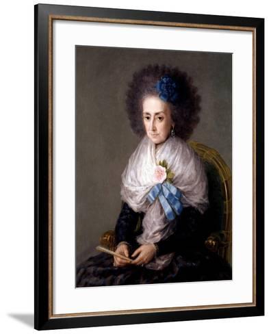 María Antonia Gonzaga, Marchioness Widow of Villafranca, Ca. 1795-Suzanne Valadon-Framed Art Print
