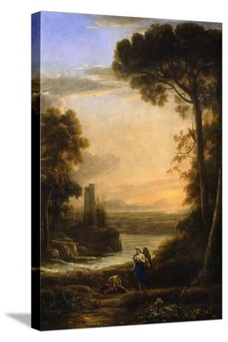 The Archangel Raphael and Tobias, 1639-1640-Claude Lorraine-Stretched Canvas Print