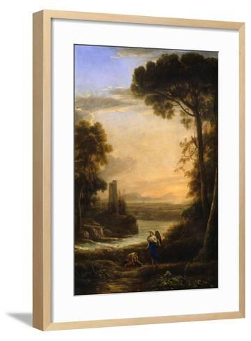 The Archangel Raphael and Tobias, 1639-1640-Claude Lorraine-Framed Art Print