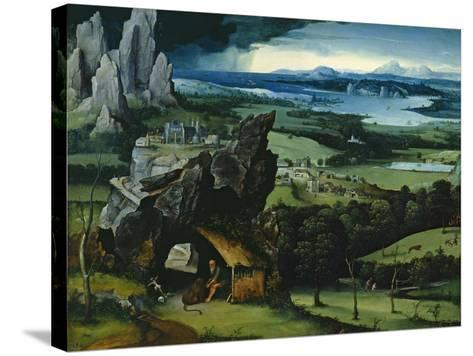 Landscape with Saint Jerome, 1516-1517-Joachim Patenir-Stretched Canvas Print