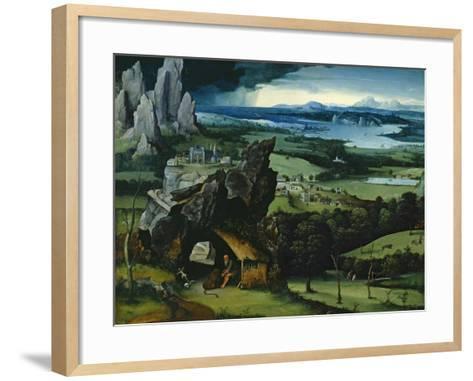 Landscape with Saint Jerome, 1516-1517-Joachim Patenir-Framed Art Print