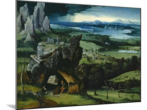 Landscape with Saint Jerome, 1516-1517-Joachim Patenir-Mounted Giclee Print