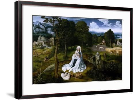 Rest on the Flight into Egypt, 1518-1520-Joachim Patenir-Framed Art Print
