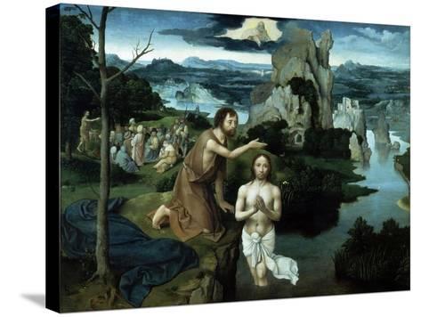 Baptism of Christ, Ca. 1515.-Joachim Patenir-Stretched Canvas Print