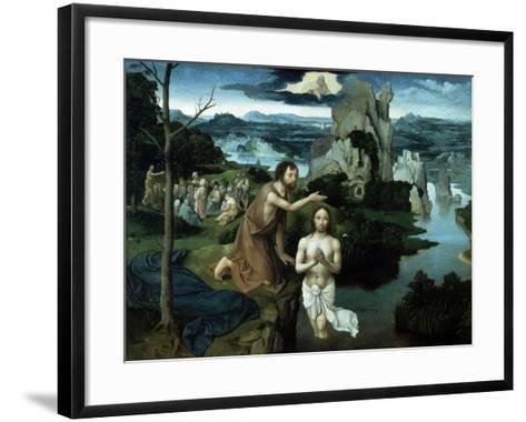 Baptism of Christ, Ca. 1515.-Joachim Patenir-Framed Art Print