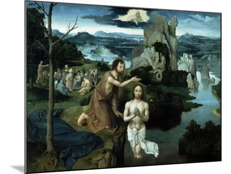 Baptism of Christ, Ca. 1515.-Joachim Patenir-Mounted Giclee Print