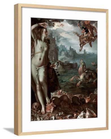 Perseus Rescuing Andromeda, 1611-Joachim Wtewael-Framed Art Print