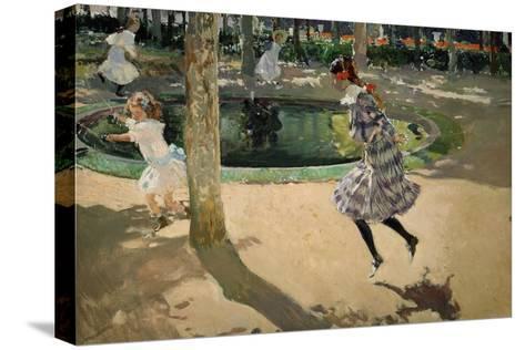 Girls with Skipping Ropes. Saltando a La Comba, 1907-Joaqu?n Sorolla y Bastida-Stretched Canvas Print