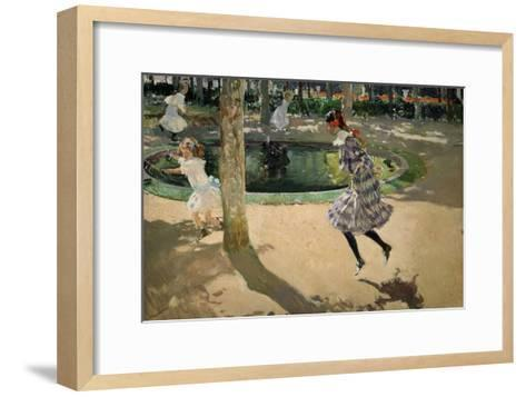 Girls with Skipping Ropes. Saltando a La Comba, 1907-Joaqu?n Sorolla y Bastida-Framed Art Print
