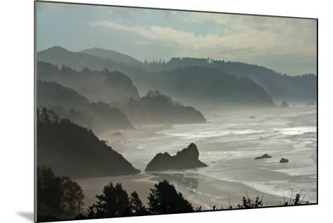 Fog Rolls onto the Rocky, Hilly Coastline-Vickie Lewis-Mounted Photographic Print