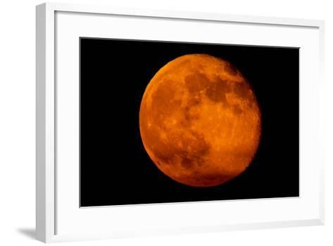 One Day after the 2013 Super Moon, the Brightest and Largest Full Moon of the Year-Kent Kobersteen-Framed Art Print