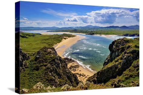 Five Fingers Strand at Malin in Donegal-Chris Hill-Stretched Canvas Print