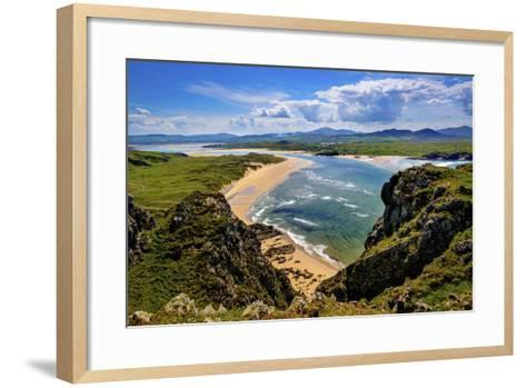 Five Fingers Strand at Malin in Donegal-Chris Hill-Framed Art Print