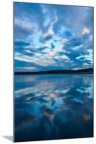 Clouds Reflect Off the Wet Sand on a Wide Beach-Vickie Lewis-Mounted Photographic Print