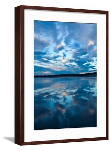 Clouds Reflect Off the Wet Sand on a Wide Beach-Vickie Lewis-Framed Art Print